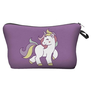Zohra Fashionable Little Lovely Unicorn Design Cosmetic Bag,Toiletry Bag
