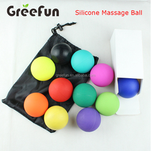 Custom Sport Fitness Yoga Exercise Lacrosse Massage Ball , Hot Selling Ice Hockey Field Hockey Triggers Points Massager Ball