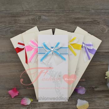 Diy Handmade Elegant Pocket Envelope Design Wedding Invitation With Ribbon Buy Envelope Wedding Invitation Pocket Envelope Wedding Invitation Pocket