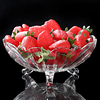 Crystal glass plate, best fruit glass dish, round glass dessert plate with foot.