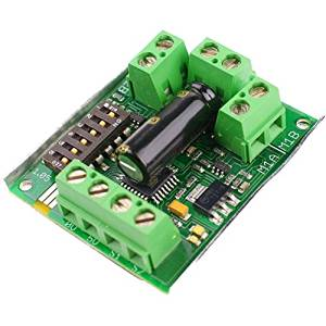 Angelelec DIY Open Sources DC Motor Driving Device, Dual 5A DC Motor Drives, Providing Two DC Brush Motor Currents UP to 5A. 10A Peak Current Can be Obtained Within a Few Seconds, Analog Voltage.