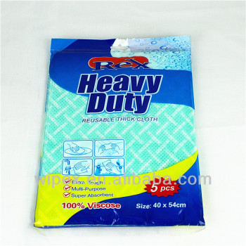 Disposable nonwoven 1/4 fold wipers