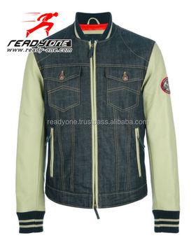 Top Quality 100 Cotton Denim Plain Varsity Jacket Wholesale Men