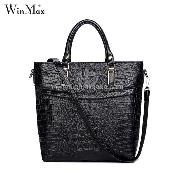 Latest Alligator leather messenger bag Candy color handbags for women
