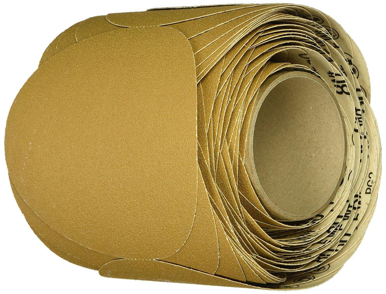 "3M Stikit Paper Disc Roll 363I, PSA Attachment, Aluminum Oxide, 6"" Diameter, 80 Grit, Gold (Roll of 100)"