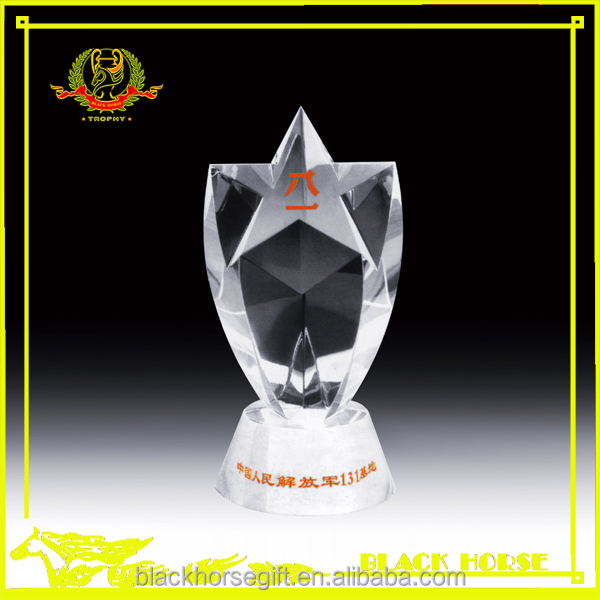 China red crystal trophy cheap crystal awards and trophies