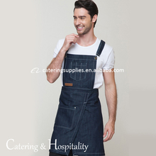 Restaurant <span class=keywords><strong>Cafe</strong></span> <span class=keywords><strong>Seragam</strong></span>, Unisex Restaurant Kitchen Bib Apron, Adjustable Jean Celemek