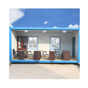 20ft mobile prefabricated container office with toilet