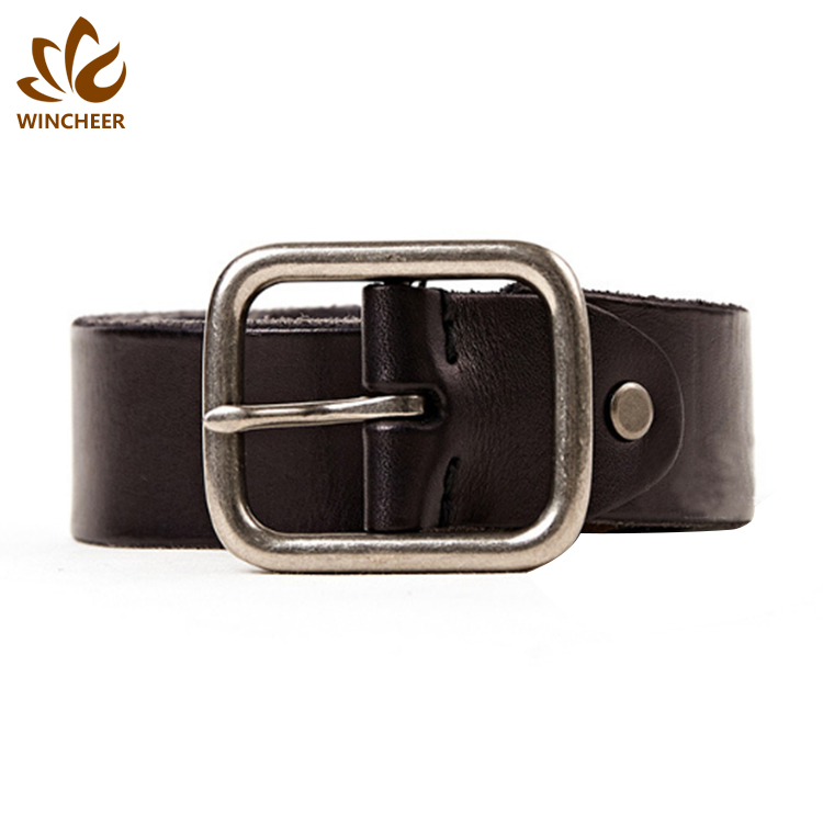 Manufacturers supply mens black leather luxury business the belt