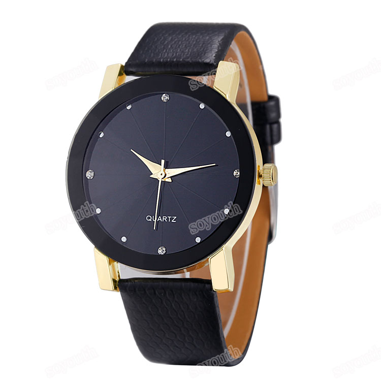 LE 173 Big face with customized logo luxury design unisex cheap leather watches 2017