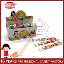 Korean Girl Brand Fruit Sour Straw Candy CC Stick Candy