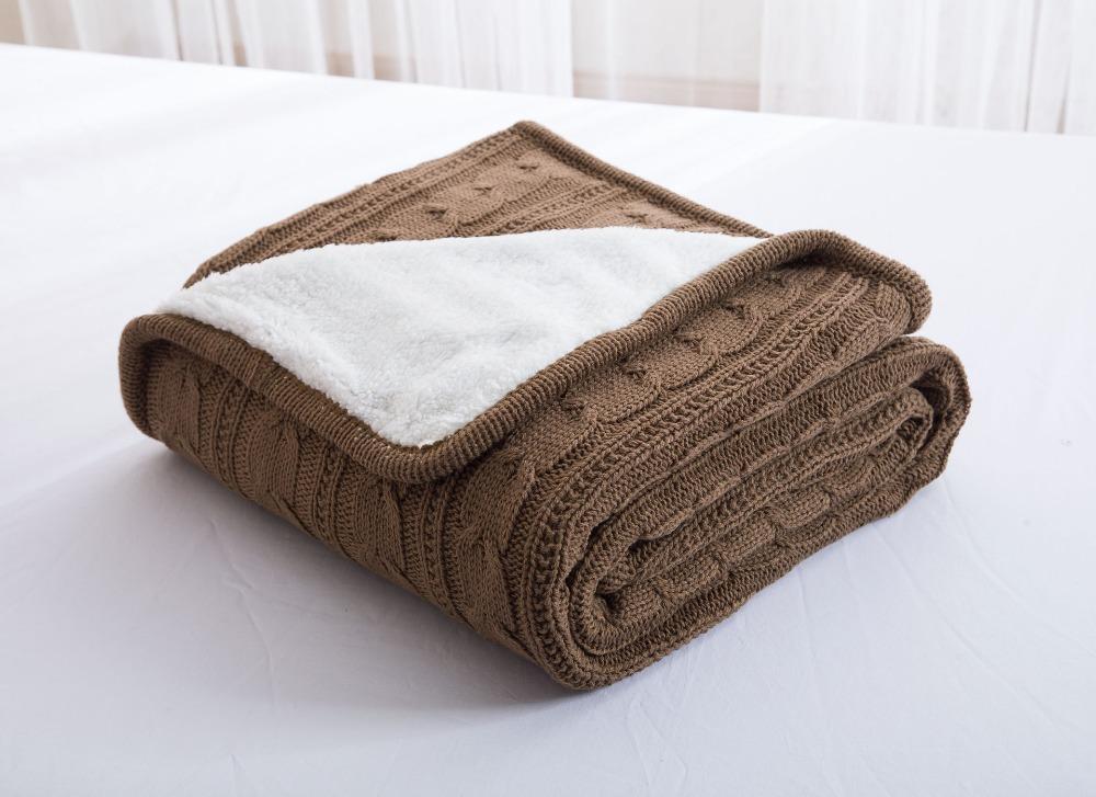100 baumwolle zopfmuster decke handgemachten fleece pl sch samt decke klimaanlage baby. Black Bedroom Furniture Sets. Home Design Ideas