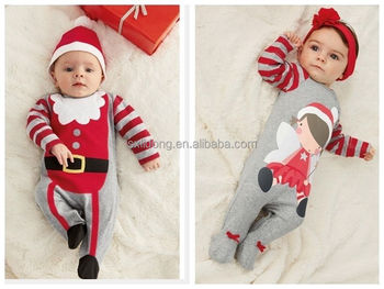 ae8a09243 Baby Christmas Clothes Outfits Boy Girl Romper Hat And Set - Buy ...