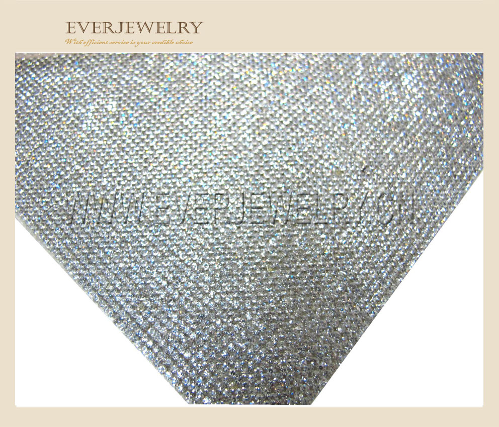 16e7050599a9 24 40cm Hotfix Adhesive Crystal Rhinestone Sheet