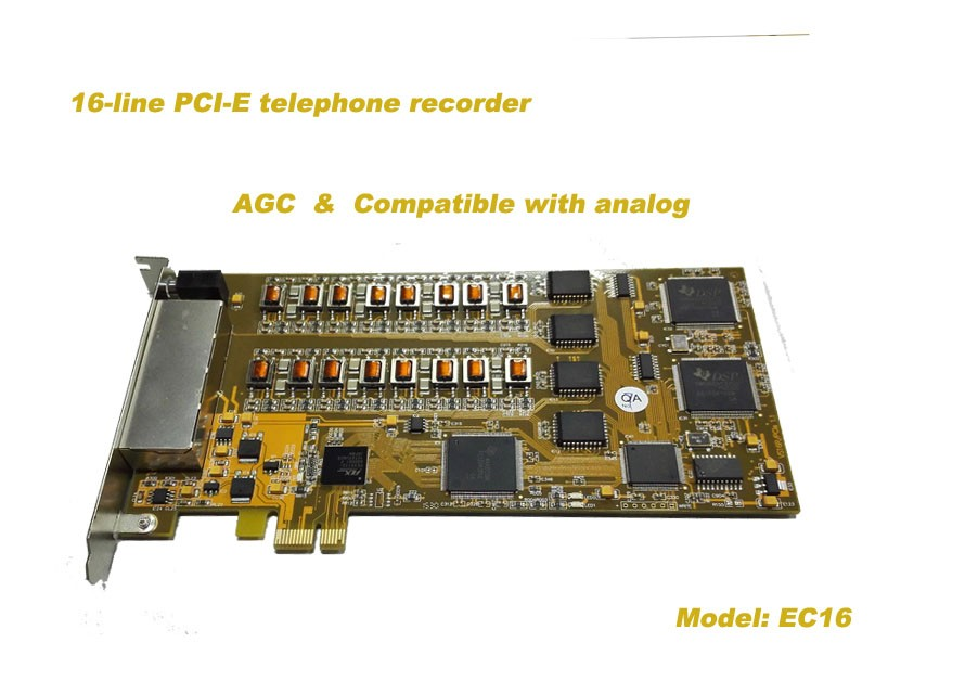 16channel PCI-E voice recording card recording card voice recorder voice logger