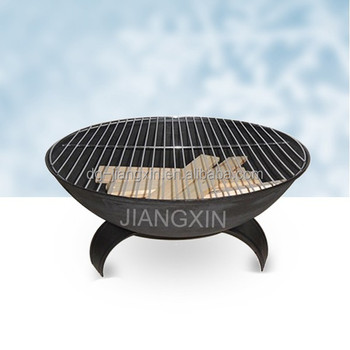 Cast Iron Fire Pit With Cooking Grill For Charcoal Burning