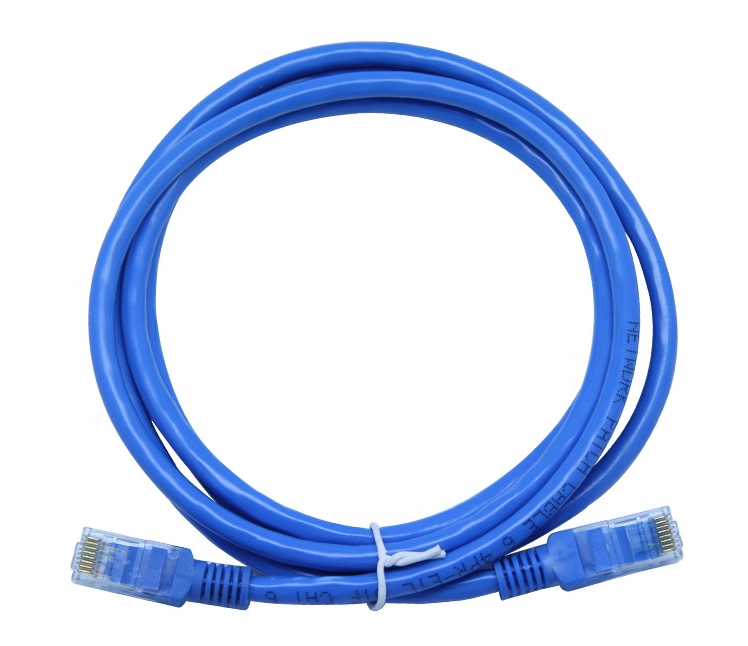 3x 10FT CAT5e Cable Ethernet Lan Network CAT5 RJ45 Patch Cord Internet Blue NEW