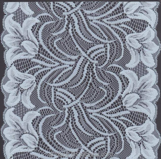 Lily pattern voile jacquard lace designs for dress