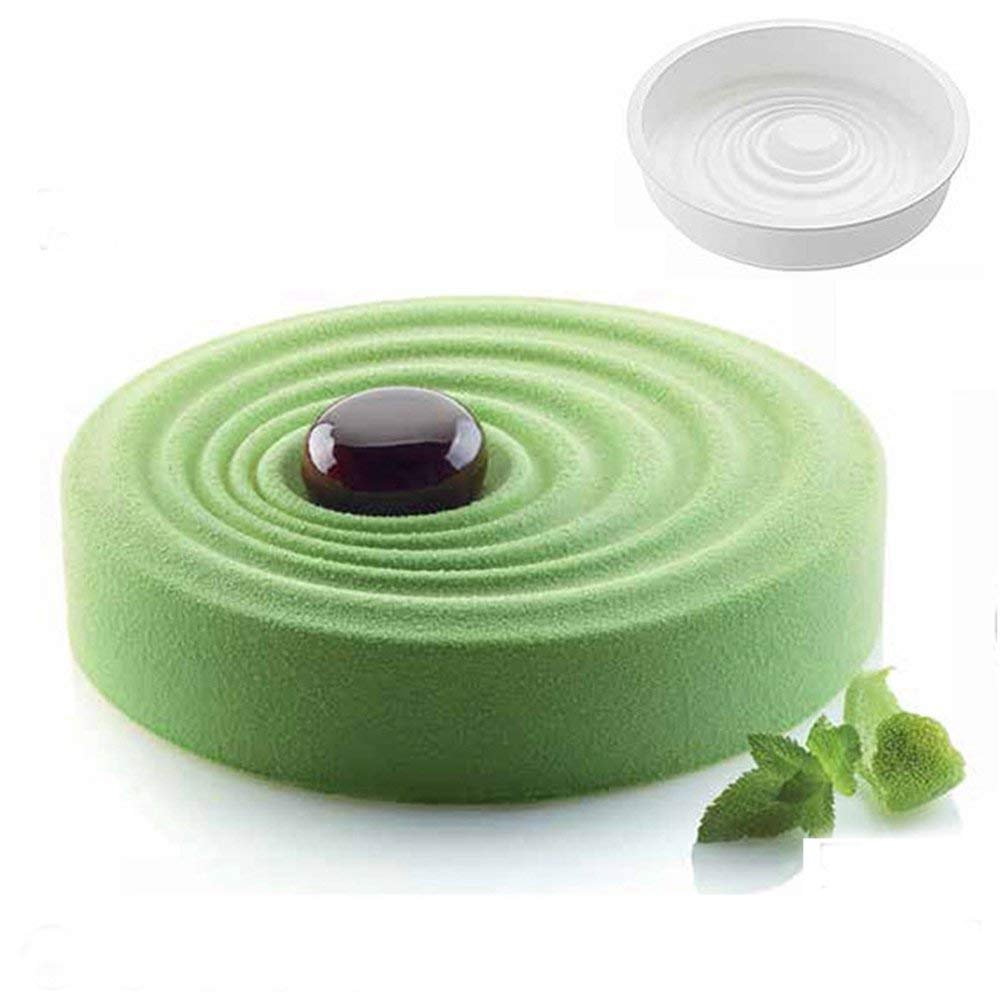 1Pcs Creative Ripple 3D Spiral Silicone Molds Pan Mousse Cake Decorating Baking Tools Chocolate Mousse Chiffon Pastry Art Mould