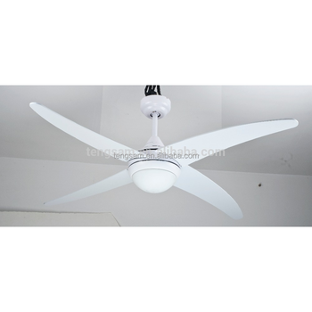 48 White 4 Bent Metal Blades Ceiling Fan With Light Made