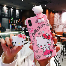 핫 잘 팔리는 hello kitty design mobile phone case 핸드폰 cover 대 한 iphone 6 7 customized 대 한 iphone x xr xs max