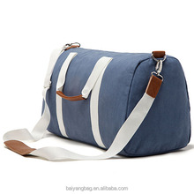 Fashion rolling duffle bag carry cotton travel canvas duffle bag