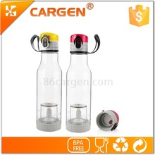 Low price sports clear tea infuser water bottles