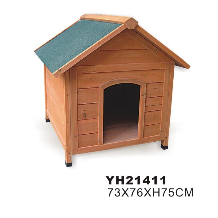 บ้านไม้สัตว์เลี้ยงสุนัขไม้ที่กำหนดเอง