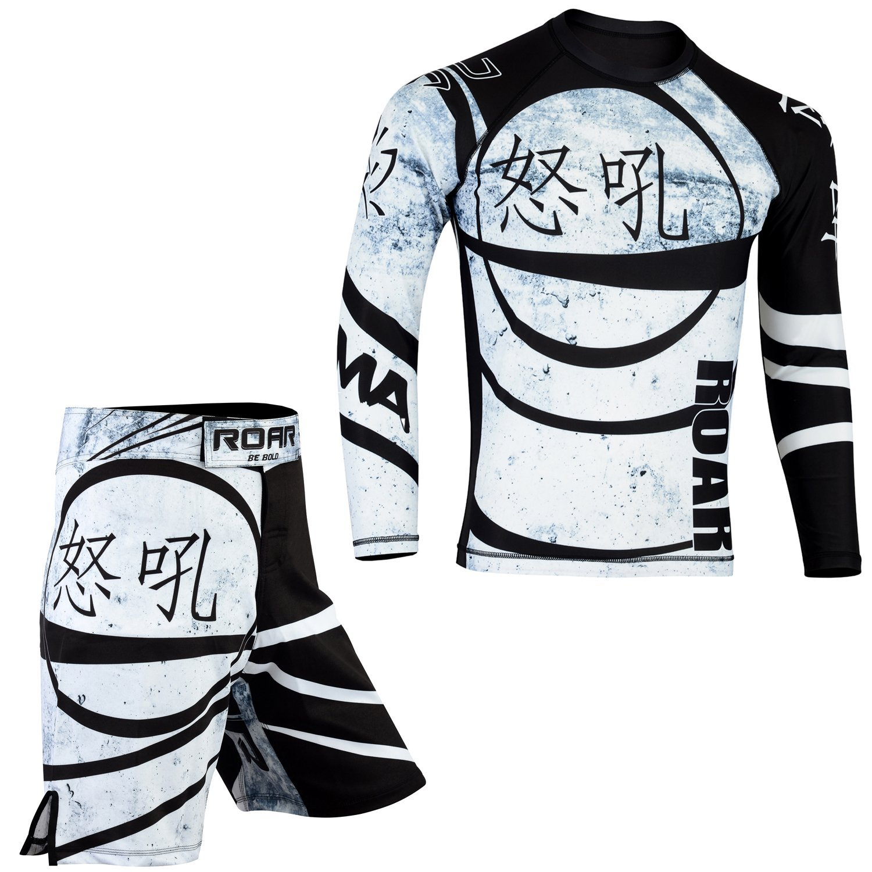 82bf4e05 Get Quotations · ROAR MMA Grappling Cage Fighting Rash Guard & BJJ  Kickboxing Short UFC Cross Training Gear Gym