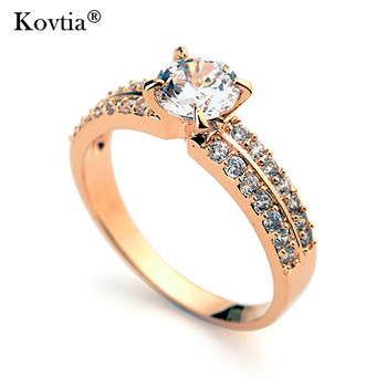 Latest Women Gold Plated Zirconia Wedding Ring Design Double Two Layer Crystal Engagement Rings For Female Buy Double Two Layer Crystal