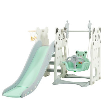 Sport Combination Slide and Swing Indoor Children Plastic Swing Slide Set