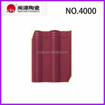 Building Material Rose Red Color Roof Tiles / Clay Roof Tiles ...