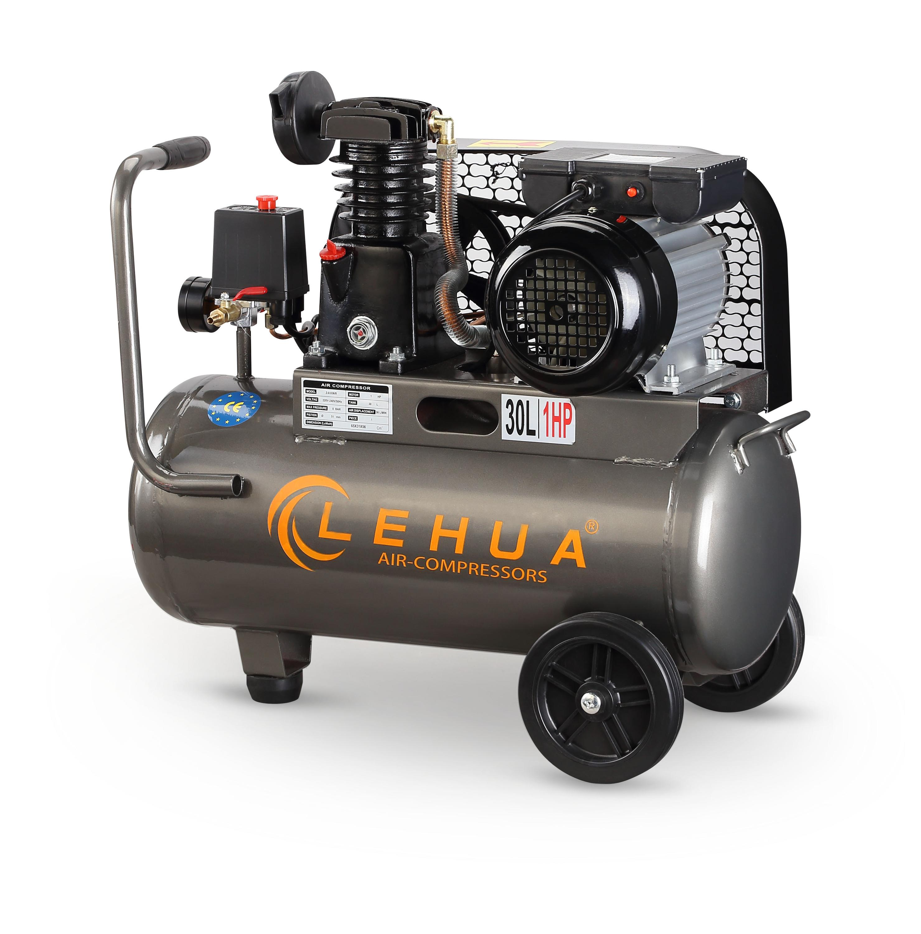 belt driven 1hp 750w one stage mobile piston air compressor Z-0.036/8