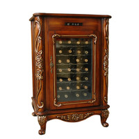 Decorative Wooden Wine Cabinet With Electric Cooler Refrigerated Wine Cabinets