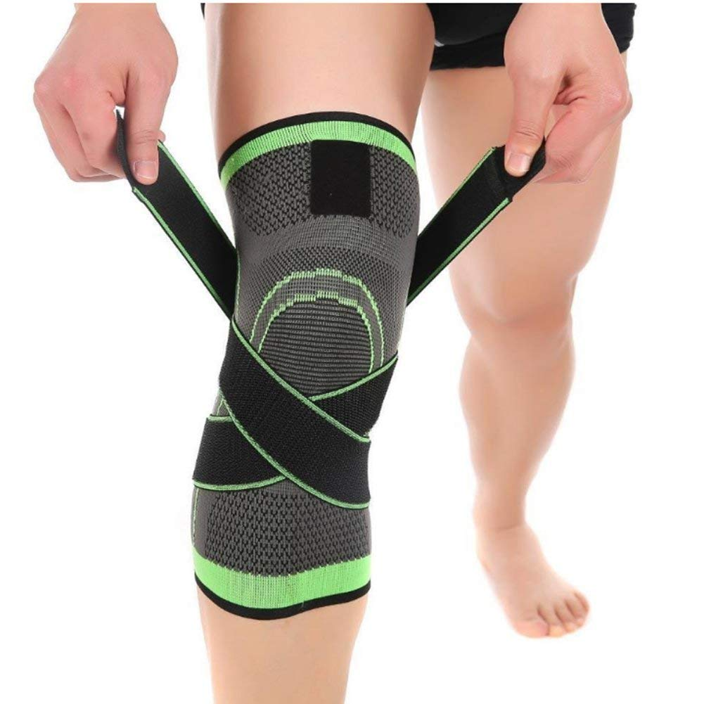 3c4048033a Get Quotations · Knee Brace/Sleeve, Support Compression Sleeves, Open-Patella  Stabilizer with 3D Weaving