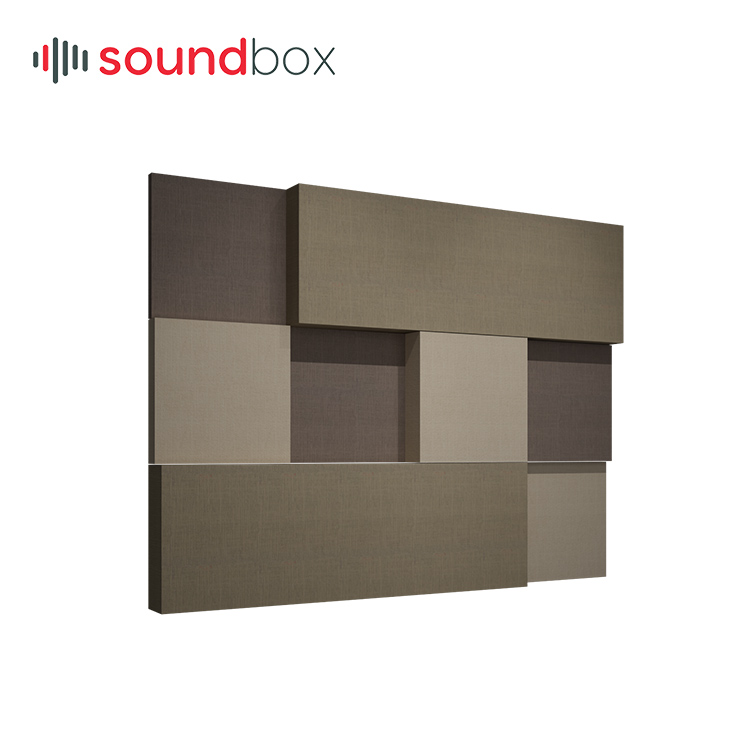 Decorative fiber glass wool sound absorption wall <strong>panel</strong> for cinema