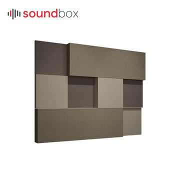 Decorative fiber glass wool sound absorption wall panel for cinema