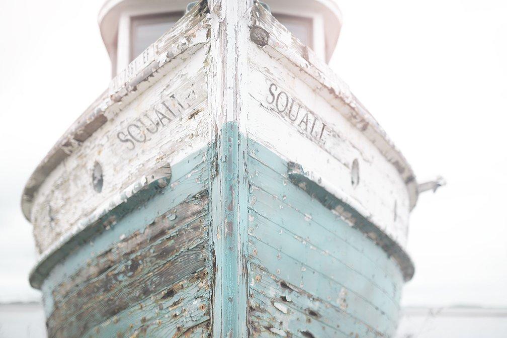 "20""x24"" Nautical Ship, Vintage Beachy, Beach Print, Cottage Decor, Sea, Rustic Wall Art, Teal Fixer Upper, Bathroom, 20""x24"" Print"