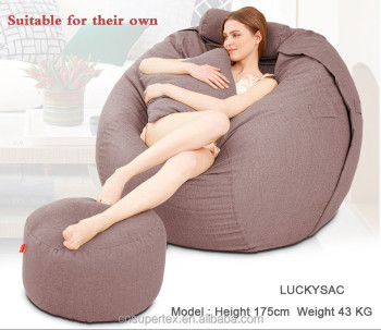 Hot Sales Outstanding Giant Bean Bag Chair Fuf Oversized Memory Foam Beanbag