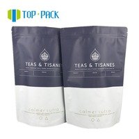 Resealable Laminated Aluminum Foil Plastic Stand Up Packaging Bag For Tea