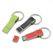 Leather Whistle Shape Pen Drive Key Chains USB Flash Drive 4GB with Custom Logo