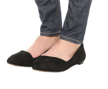 Made in china dames comfort schoeisel <span class=keywords><strong>goedkope</strong></span> zwart suede ballet flats <span class=keywords><strong>schoenen</strong></span>