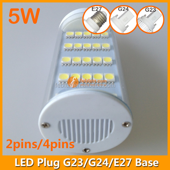 High power led wall lamp 5W in clear cover