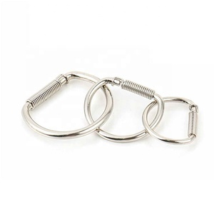 Factory Price Custom Stainless Steel D Shaped Key Ring Keychain