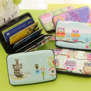 Hot style Simple fashion The Korean owl accordion card holder