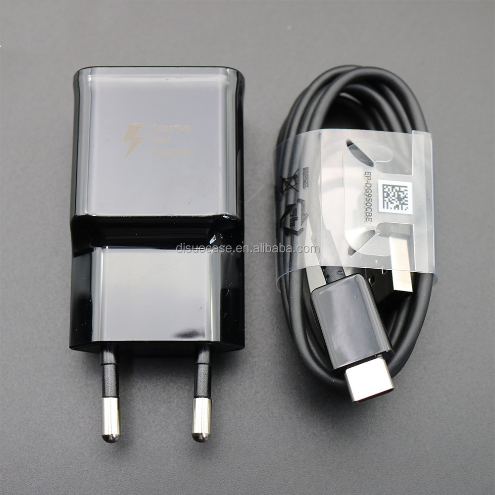 High quality for Samsung Galaxy S9 S8 S8 plus Fast Charger Type-C Adaptive Quick Charger EU/US/UK Travel Charging 9V 1.67A&5V2A
