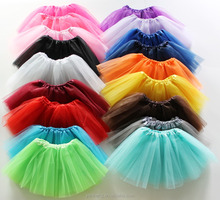 2017 Wholesale Newborn Infant Baby Girl professional 3 Layers kids Dance Tutu Tulle Skirt