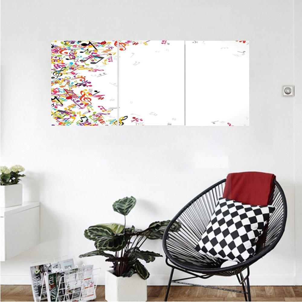 Liguo88 Custom canvas Music Decor Wall Hanging Colorful Music Notes Frame Decorating Festival Singing Enjoyment Fashion Bedroom Living Room Decor