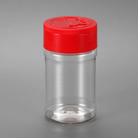 200ml Empty shaker plastic seasoning bottle for packing spice pepper jars with toothpick lid