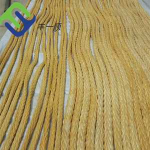 High strength 12 strand UHMWPE rope for mooring